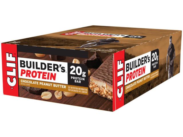 CLIF Bar Builder's Proteinriegel Box 12x68g Schokolade Erdnussbutter
